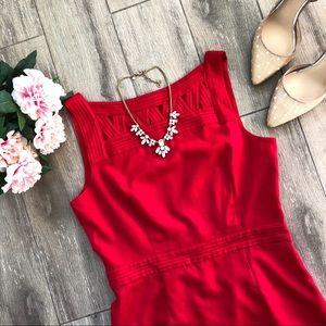 Banana Republic Cutout Sheath Red Dress